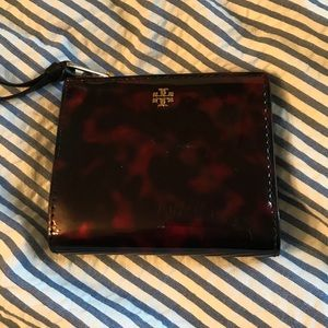 Tory Burch small wallet tortoise like new